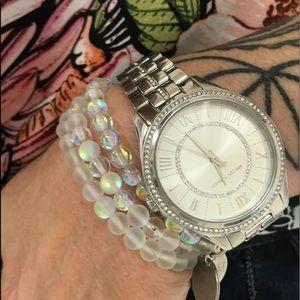 Jewelry - Mermaid Glass Name Stackable Bracelet